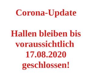 Corona-Update 07.07.2020 - TVS bleibt geschlossen